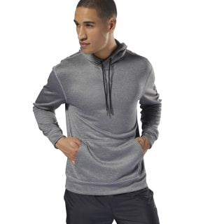 Workout Ready Poly Fleece Hoodie Medium Grey Heather D94226