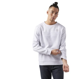 Long Sleeve Crewneck Shirt Light Grey Heather CE5004