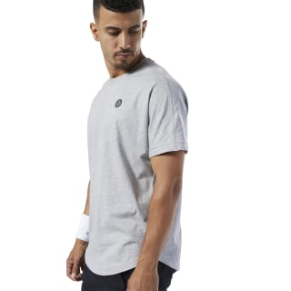 LES MILLS® Tee Medium Grey Heather / Gravel ED2446