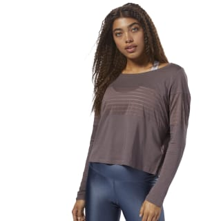 T-shirt à manches longues en mesh Almost Grey CZ9468