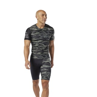 Reebok CrossFit® Compression T-Shirt Hunter Green DP4568