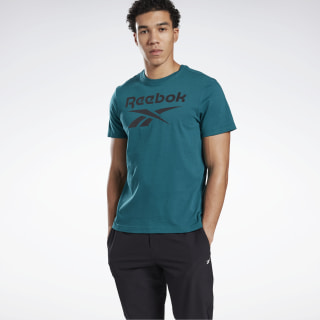 Koszulka Graphic Series Reebok Stacked Heritage Teal FP9146
