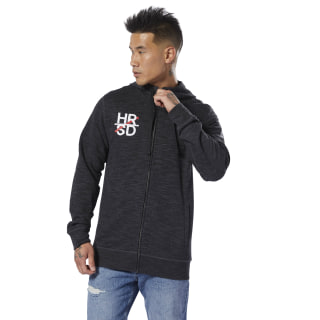Худи UFC Fan Gear Full-Zip black DU4575