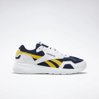 Reebok Royal Dashonic 2.0 Shoes White / Collegiate Navy / Toxic Yellow DV6738