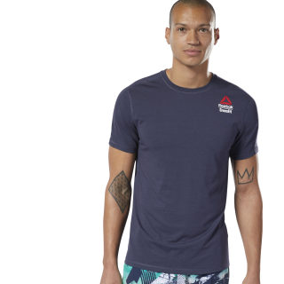 Reebok CrossFit® Games ACTIVCHILL + Cotton T-Shirt Heritage Navy / Heritage Navy DY8459