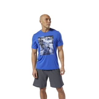 Run Essentials Tee Crushed Cobalt DW5241