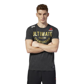 Camiseta UFC Fight Night Walkout Black / UFC Gold DM5167