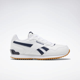 Reebok Royal Glide Ripple Shoes White / Collegiate Navy / Gum DV8931