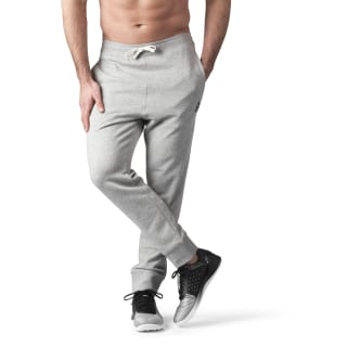 French Terry Cuffed Pant Medium Grey Heather BK5054