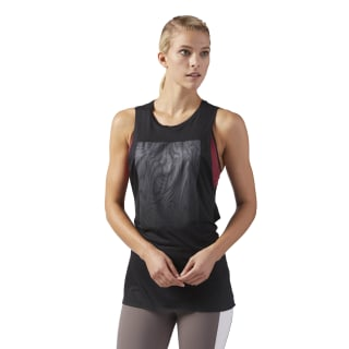 Moire Muscle Tank Black CD7688