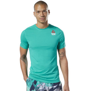 Camiseta Reebok CrossFit® Games ACTIVCHILL + Cotton Emerald / Emerald EC1389
