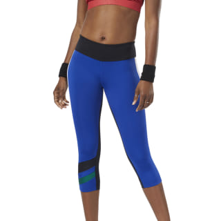 Workout Ready Colorblock Capris Cobalt EC2397