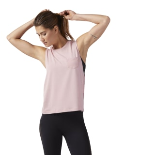 Nature X Muscle Tank Chalk Pink CD3853