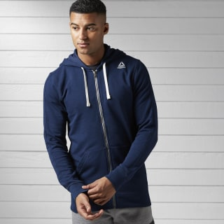 Training Essentials French Terry Full-Zip Hoodie Collegiate Navy BK5063