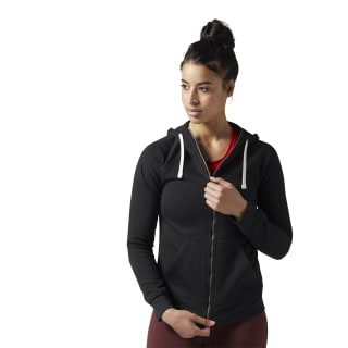 Training Essentials Fleece Full-Zip Hoodie Black BS4115