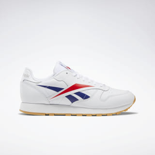 Classic Leather Vector Shoes White / Scarlet / Phantom Blue EF8837