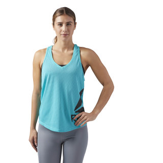 Workout Ready Mesh Tank Turquoise/Solid Teal CE4425