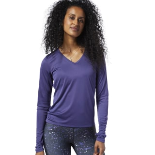 Running Essentials Long Sleeve Tee Midnight Ink EC2945