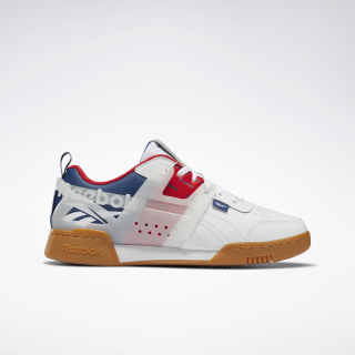 Workout Plus ATI Shoes White / Washed Blue / Primal Red EH0097