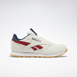 Classic Leather Shoes Chalk / Power Red / Navy DV9550