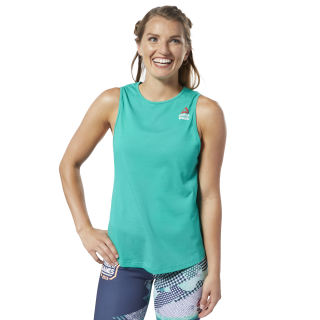 Reebok CrossFit® Games ACTIVCHILL + Cotton Tank Top Emerald / Emerald EC1497