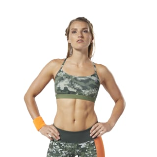 Reebok CrossFit® Medium-Impact Bra Canopy Green EC1412