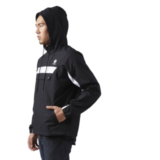Cotton Anorak Sweatshirt Black CE5074