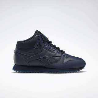 Кроссовки Reebok Classic Leather Mid Ripple collegiate navy/collegiate navy/collegiate royal FU9130