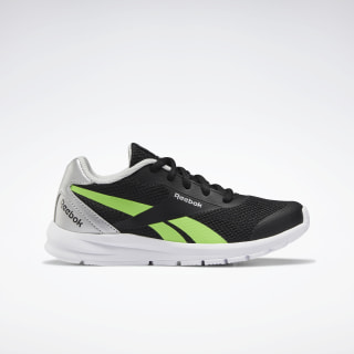 Reebok Rush Runner 2.0 Shoes Black / Silver Metallic / Solar Green EF3162