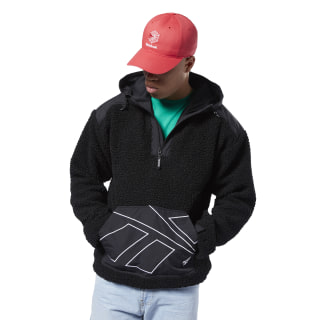 Classics Vector Sherpa Fleece Hoodie Black EC4612