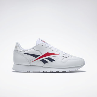 Buty Classic Leather Vector Shoes White / Scarlet / Collegiate Navy EG2988