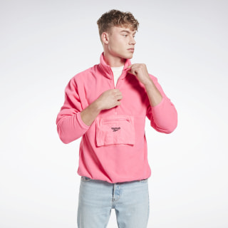 Sweat demi-zip Solar Pink FS7359