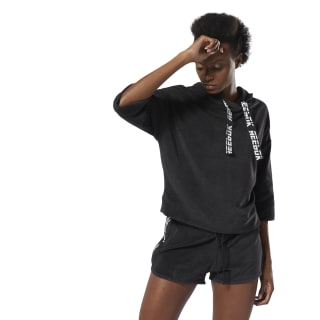 Bluza z kapturem WOR Meet You There Terry Hoodie Black DU4830
