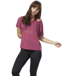 T-shirt Burnout Red CY2354
