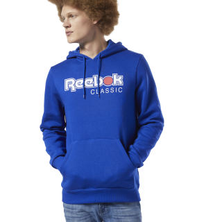 Classics International Red Button Hoodie Cobalt EA3601
