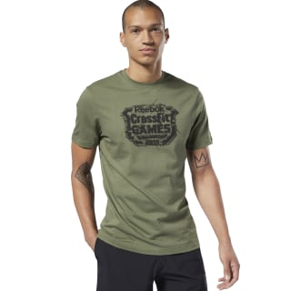 Reebok CrossFit® Distressed Crest Tee Canopy Green DY8420