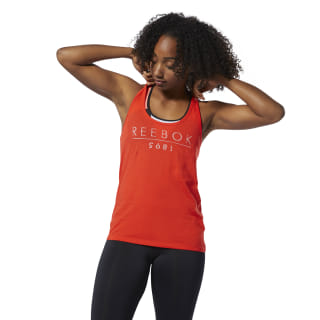 Reebok 1895 Racer Tank Top Canton Red DU4658