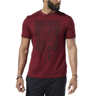 Спортивная футболка Reebok CrossFit® Made In The Box Burgundy/merlot DY8421