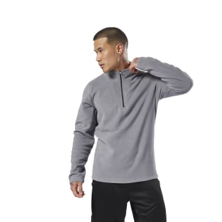 Outdoor Fleece Quarter-Zip Shark D78639