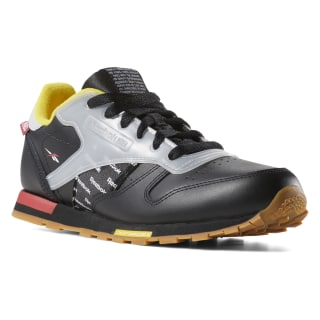 Classic Leather Altered - Pre-School BLACK / RED / YELLOW / GREY DV5252