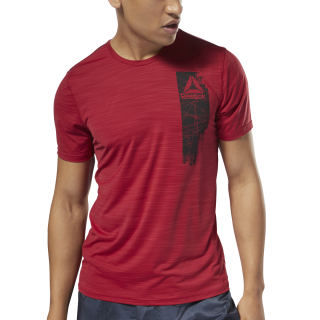 Workout Ready ActivChill Graphic Top Cranberry Red D94234
