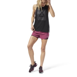 2-in-1 Perforated Shorts Red D94137