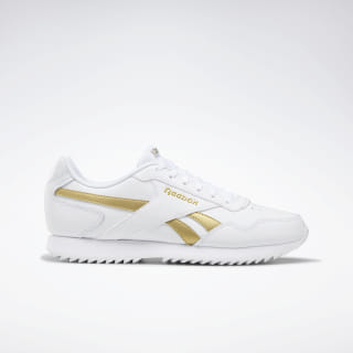 Reebok Royal Glide Ripple Shoes White / Matte Gold / White EG1498