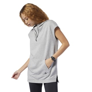 Sweat à capuche sans manches WOR MYT Medium Grey Heather DP6680
