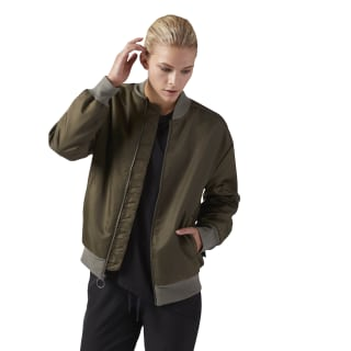 Giacca Bomber Training Supply Woven Army Green CF8661