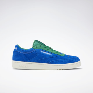 Кроссовки CLUB C 85 Reebok x PLEASURES VITAL BLUE/GREEN/CHLK/WHT DV9908
