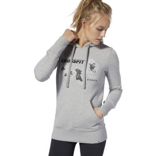 Reebok CrossFit® World Class Hoodie Medium Grey Heather DU4597