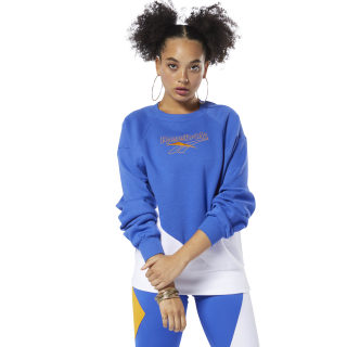 Sweat Classics Vector à col rond Crushed Cobalt / White DT7198