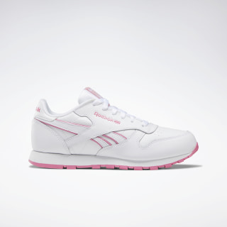 Classic Leather Shoes White / Astro Pink / White DV9324