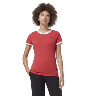 T-shirt Training Essentials Linear Logo Rebel Red FI2021